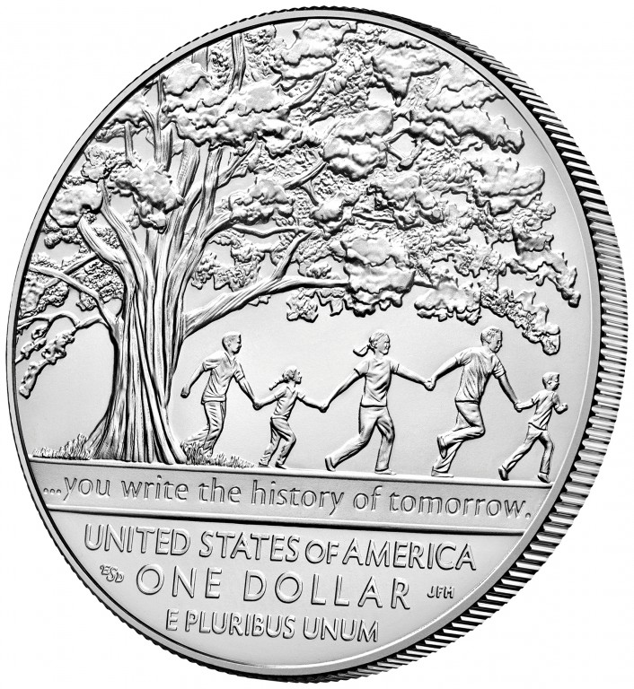 2017 Boys Town Commemorative Silver Uncirculated Reverse Angle