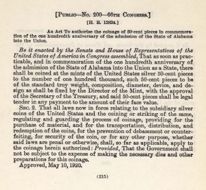 Historic legislation, May 10, 1920. Full text is duplicated in the body of this page.