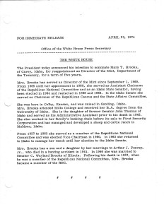 Office of the White House Press Secretary press release, April 23, 1974. Full text is duplicated in the body of this page.