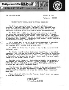 Historic Press Release, October 3, 1977. Full text is duplicated in the body of this page.