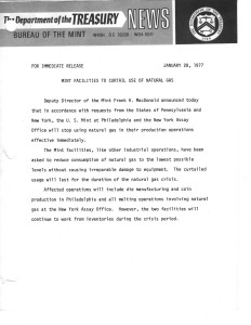 Historic Press Release, January 28, 1977. Full text is duplicated in the body of this page.