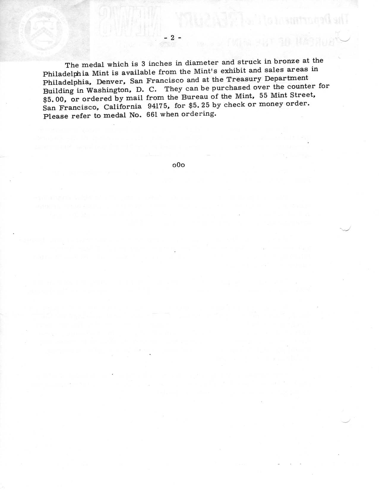 Historic Press Release: Hoover Medal on Medal List, Page 2