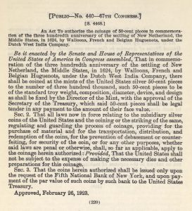Historic legislation, February 26, 1923. Full text is duplicated in the body of this page.