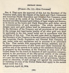 Historic legislation, April 13, 1904. Full text is duplicated in the body of this page.