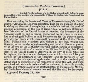 Historic legislation, February 23, 1916. Full text is duplicated in the body of this page.
