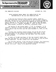 Historic Press Release, October 29, 1976. Full text is duplicated in the body of this page.