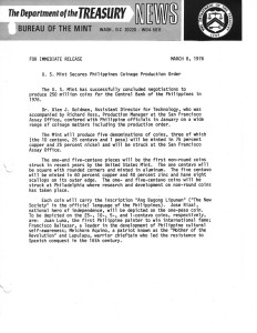 Historic Press Release, March 8, 1976. Full text is duplicated in the body of this page.