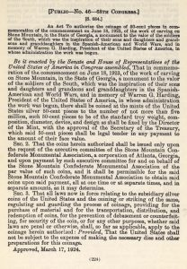Historic legislation, March 17, 1924.