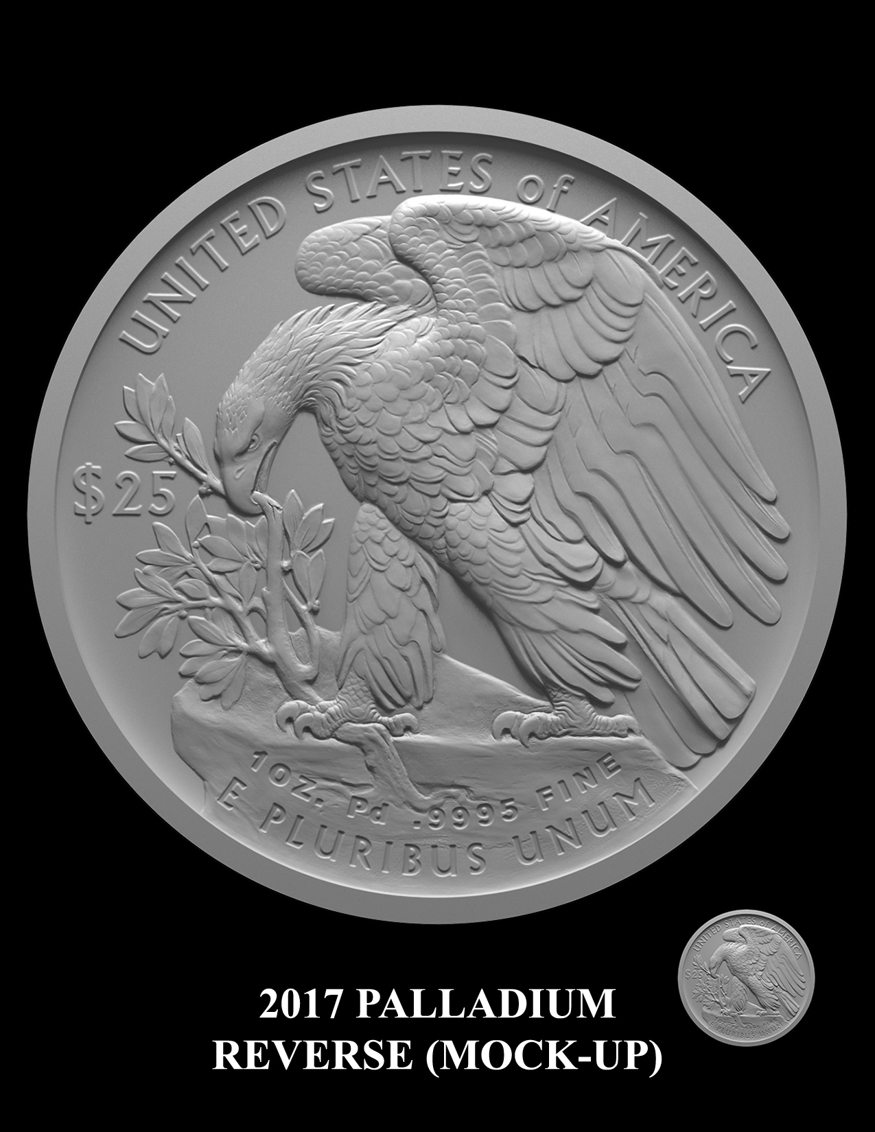 2017-Palladium-Reverse-Mock-up -- 2017 American Eagle Palladium Bullion Coin
