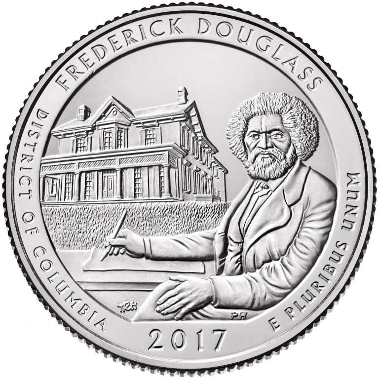 2017 America the Beautiful Quarters Coin Frederick Douglass District of Columbia Uncirculated Reverse