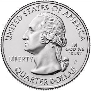 2017 America the Beautiful Quarters Coin Uncirculated Obverse