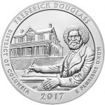 2017 America the Beautiful Quarters Five Ounce Silver Bullion Coin Frederick Douglass District of Columbia Reverse