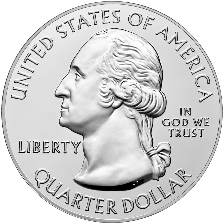 2017 America the Beautiful Quarters Five Ounce Silver Bullion Coin Obverse