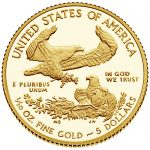 2017 American Eagle Gold Tenth Ounce Proof Coin Reverse