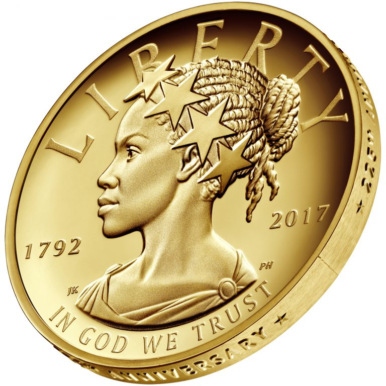 2017 American Liberty 225th Anniversary Gold Coin Obverse Side Angle