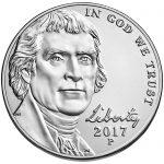 2017 Jefferson Nickel Uncirculated Obverse Philadelphia