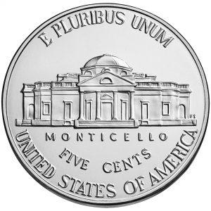 2017 Jefferson Nickel Uncirculated Reverse