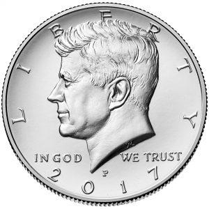 2017 Kennedy Half Dollar Uncirculated Coin Obverse Philadelphia