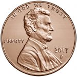 2017 Lincoln Penny Uncirculated Obverse Denver