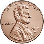 2017 Lincoln Penny Uncirculated Obverse Philadelphia