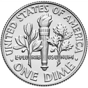 2017 Roosevelt Dime Uncirculated Coin Reverse