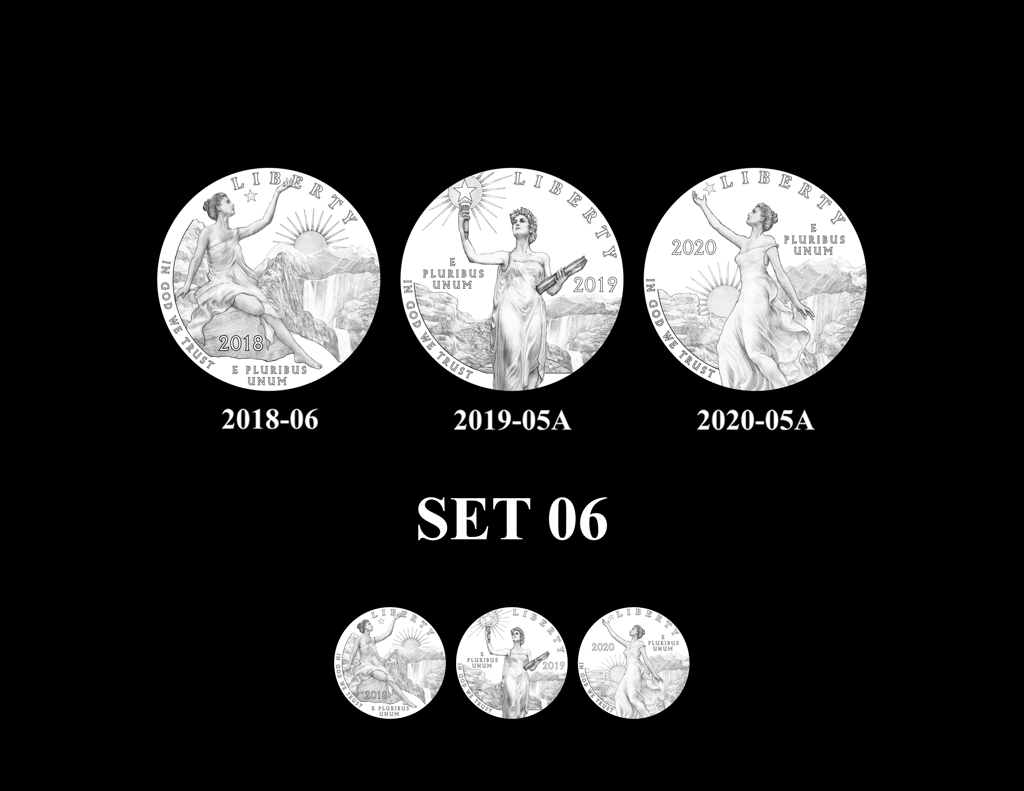 SET 06 - 2018 2019 and 2020 American Eagle Platinum Proof Program