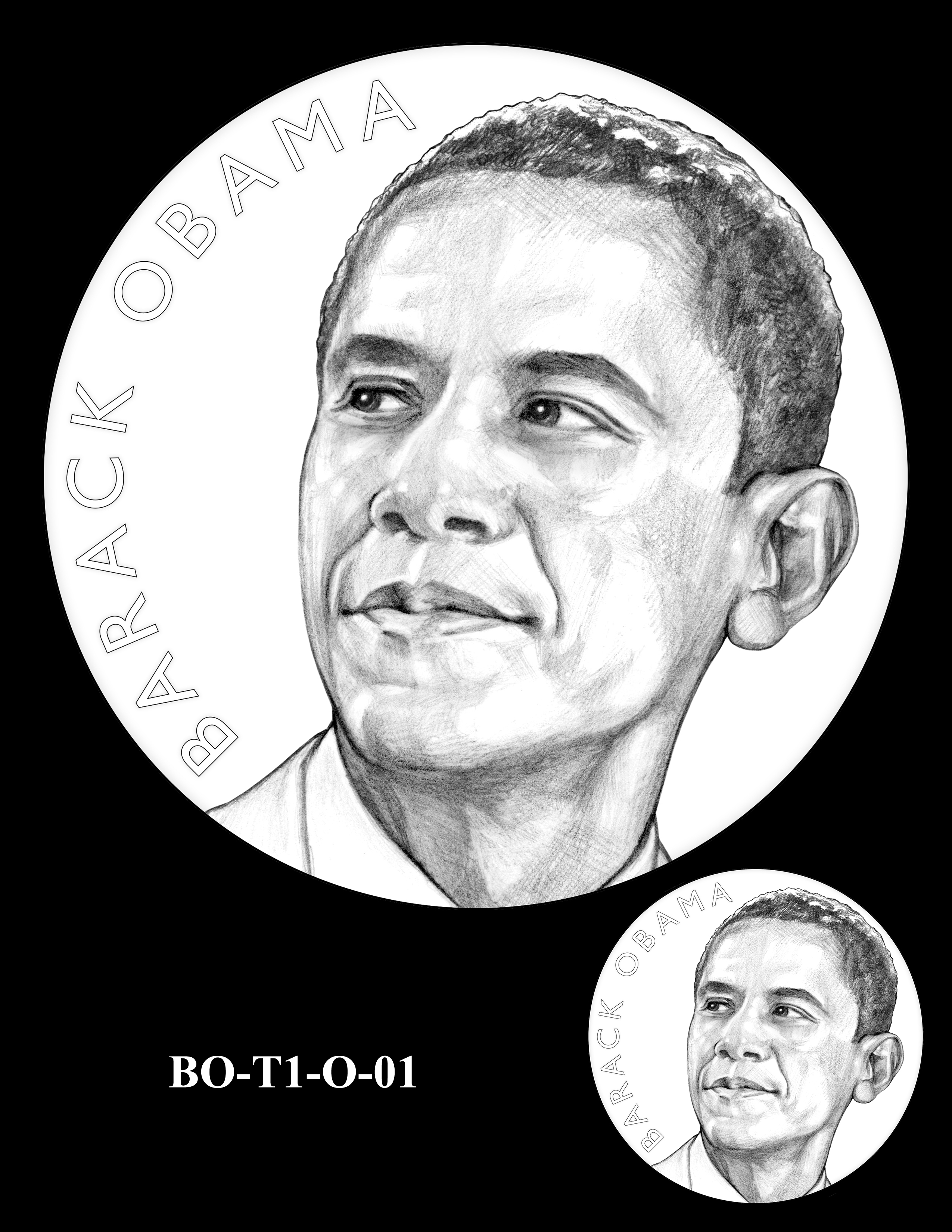 BO-T1-O-01 - Barack Obama Presidential Medals Term One Obverse