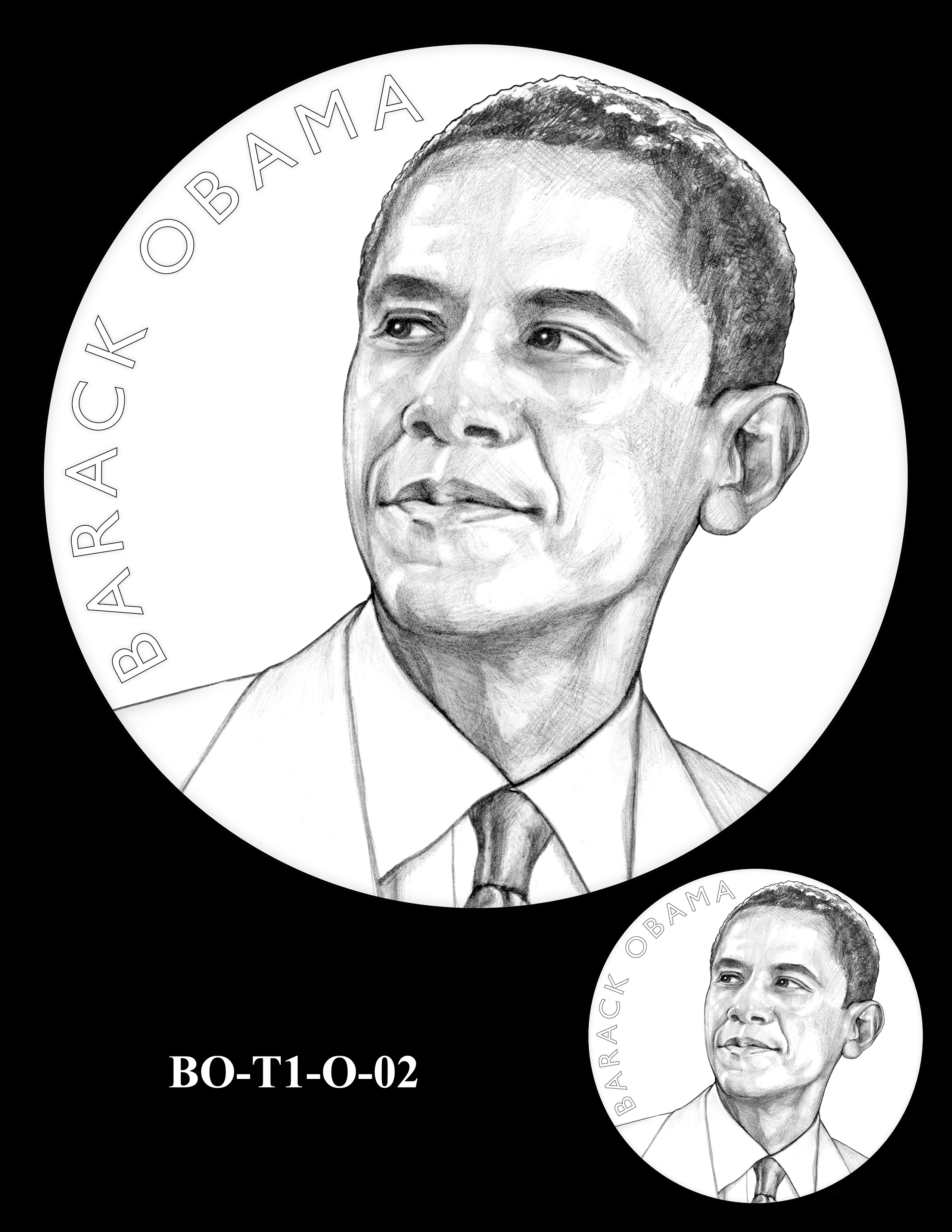 BO-T1-O-02 - Barack Obama Presidential Medals Term One Obverse