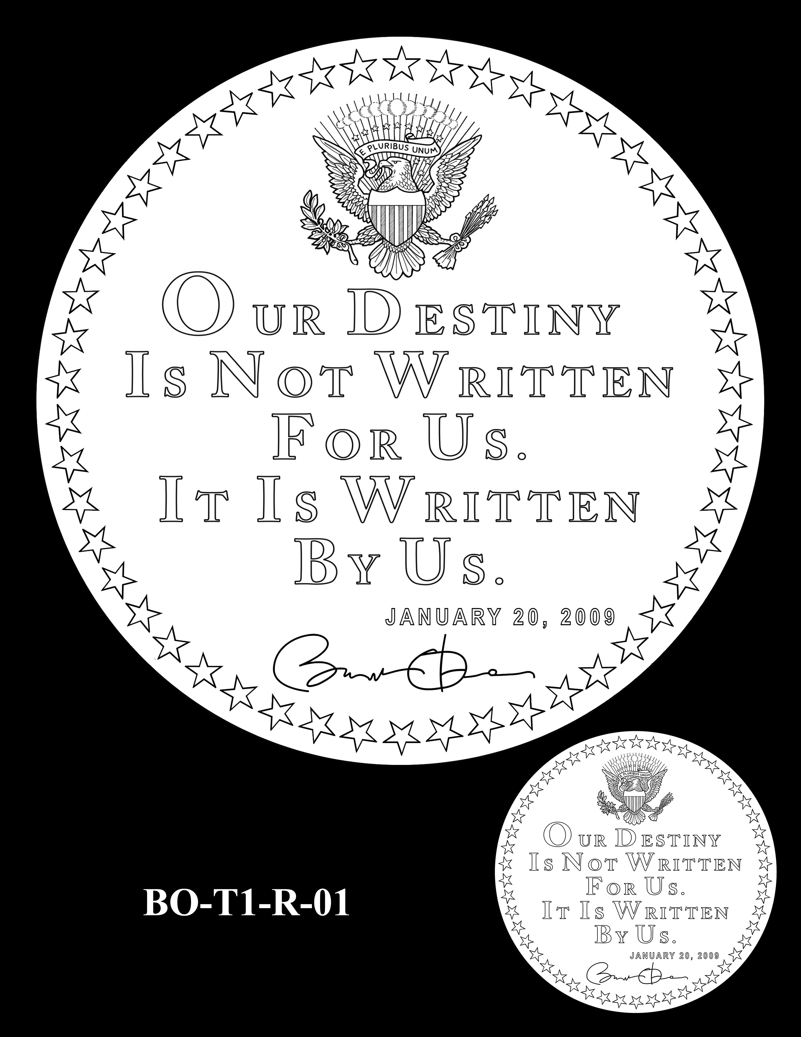 BO-T1-R-01 - Barack Obama Presidential Medals Term One Reverse