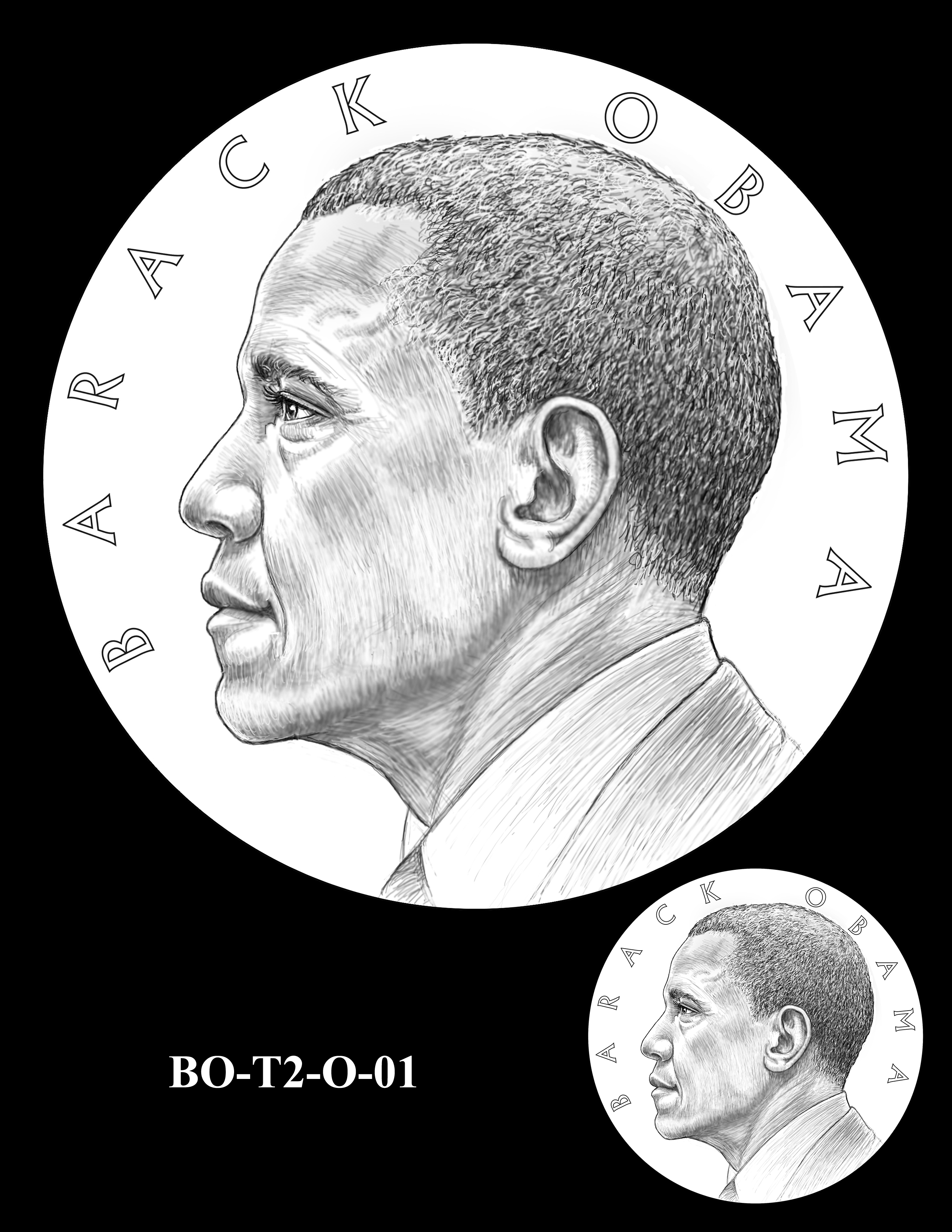 BO-T2-O-01 - Barack Obama Presidential Medals Term Two Obverse