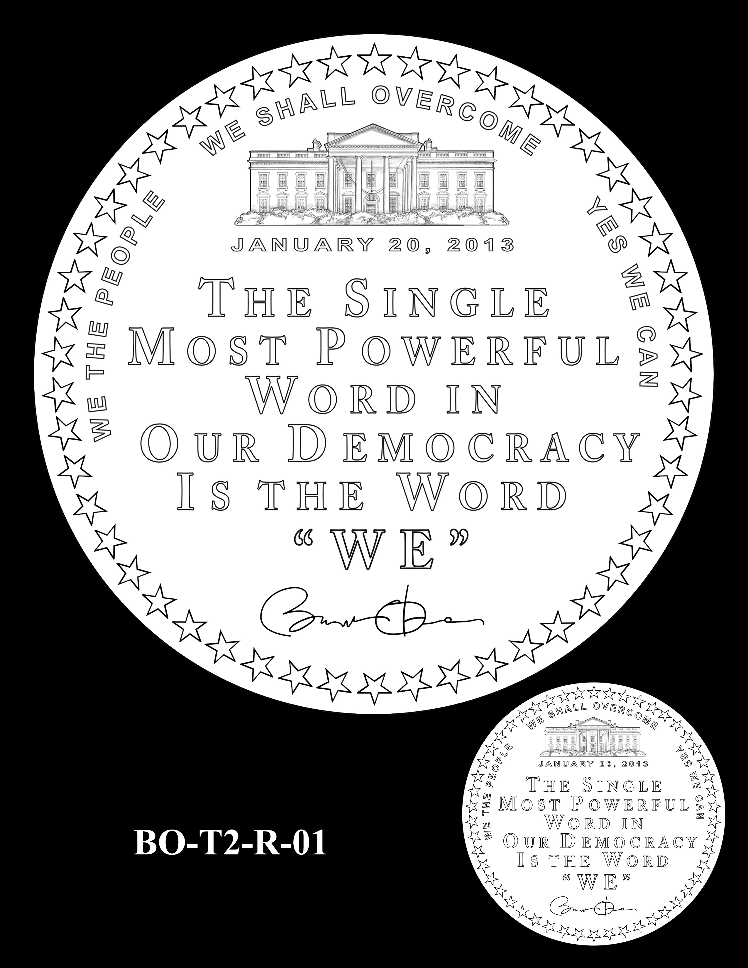 BO-T2-R-01 - Barack Obama Presidential Medals Term Two Reverse