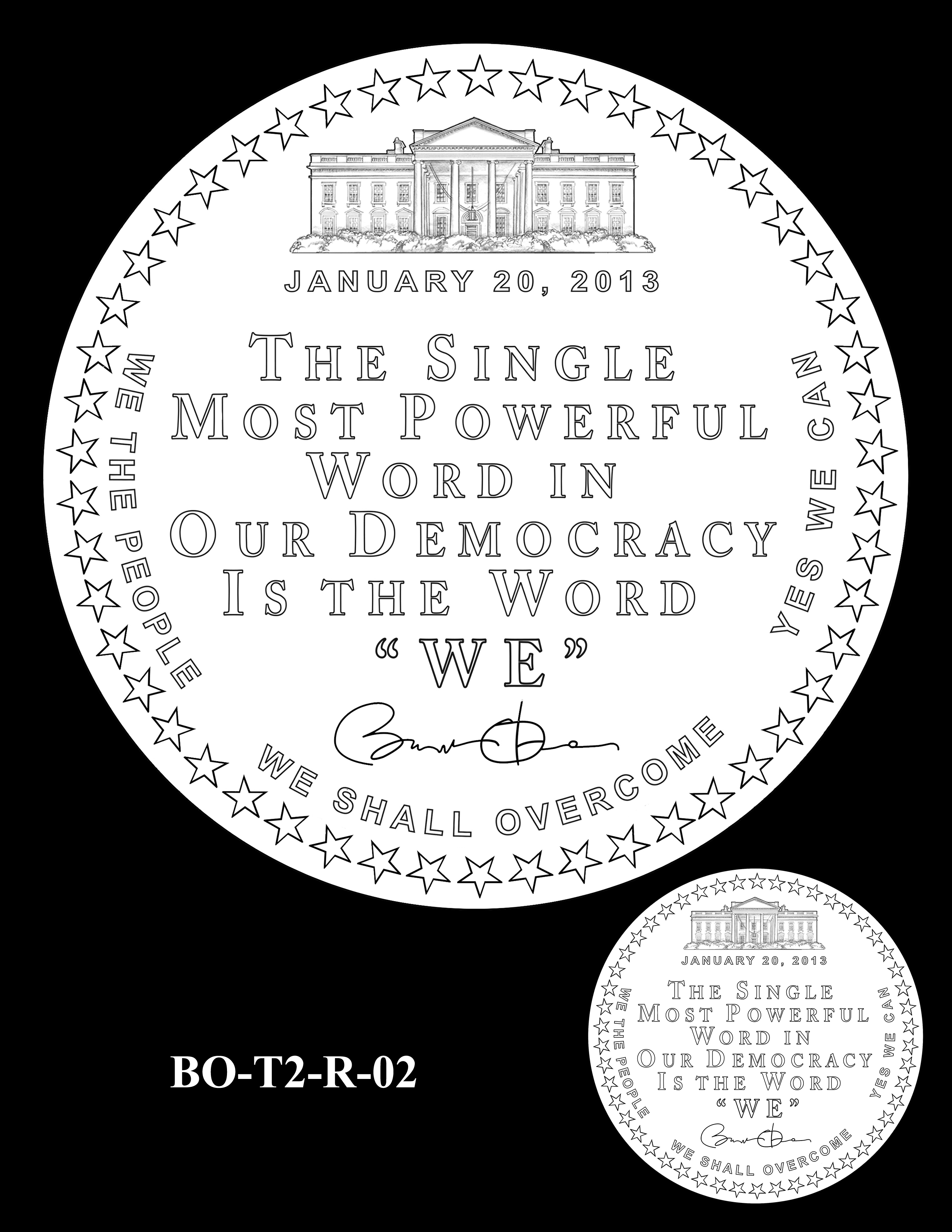 BO-T2-R-02 - Barack Obama Presidential Medals Term Two Reverse