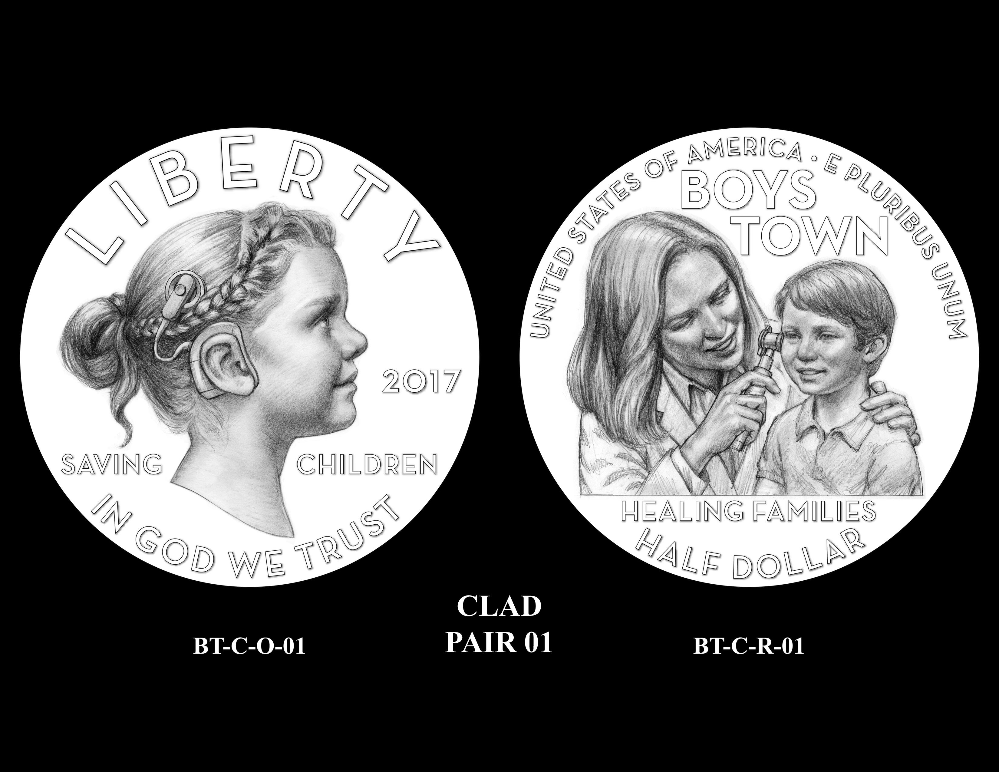 Clad-Pair-01 -- 2017 Boystown Centennial Commemorative Coin  Program