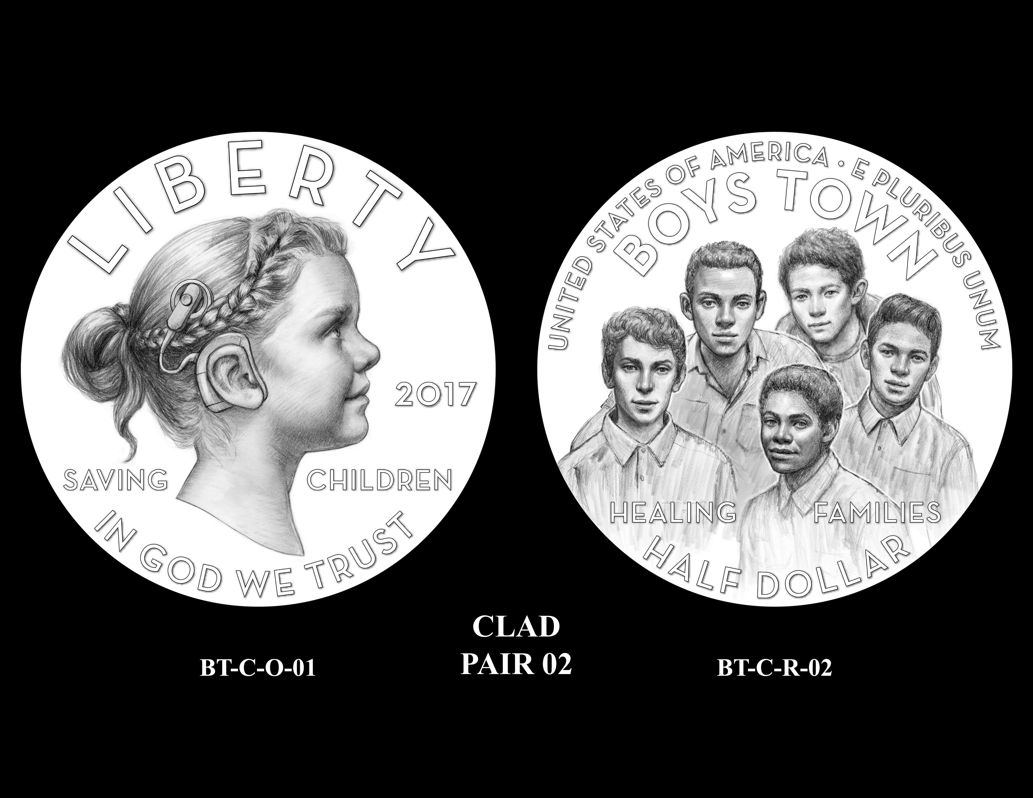 Clad-Pair-02 -- 2017 Boystown Centennial Commemorative Coin  Program
