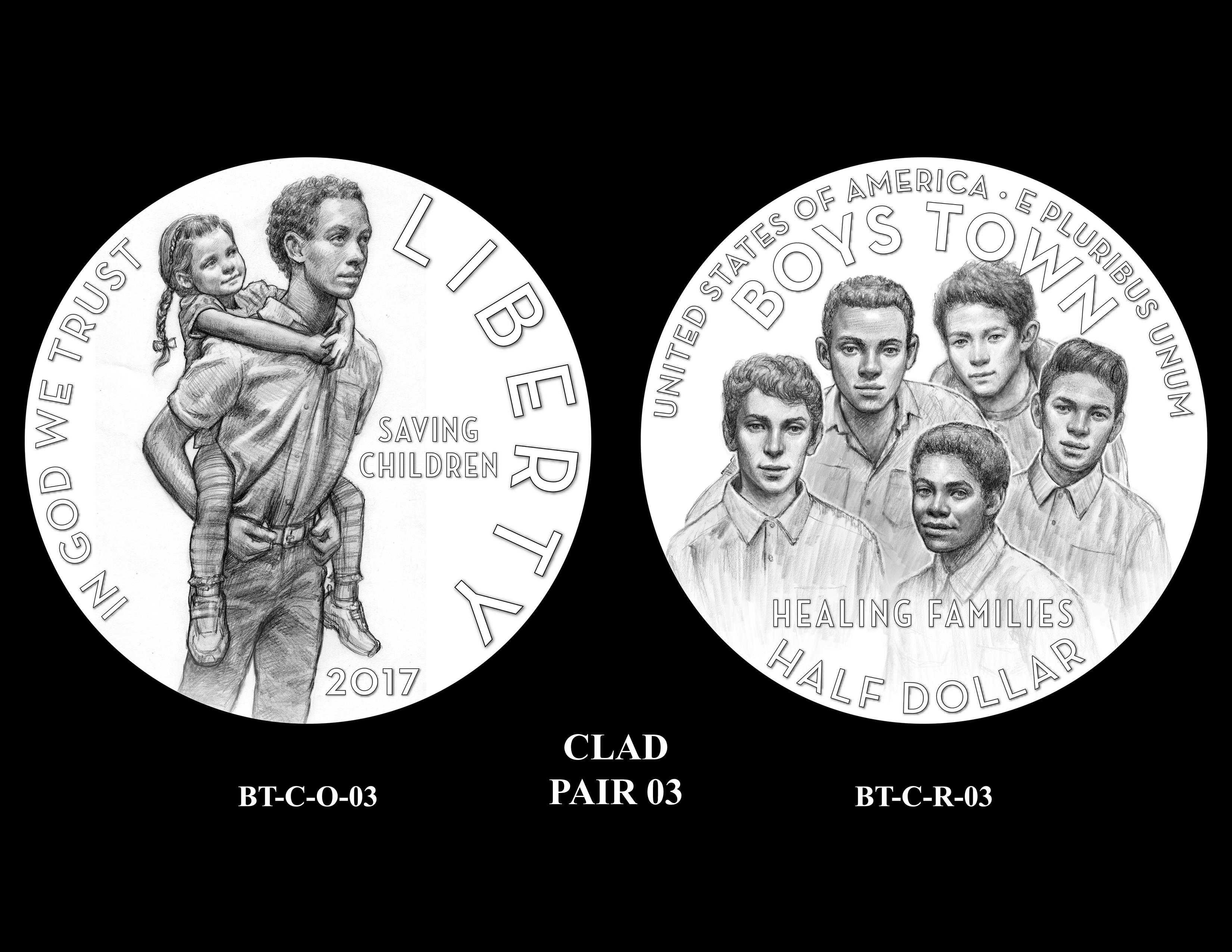 Clad-Pair-03 -- 2017 Boystown Centennial Commemorative Coin  Program
