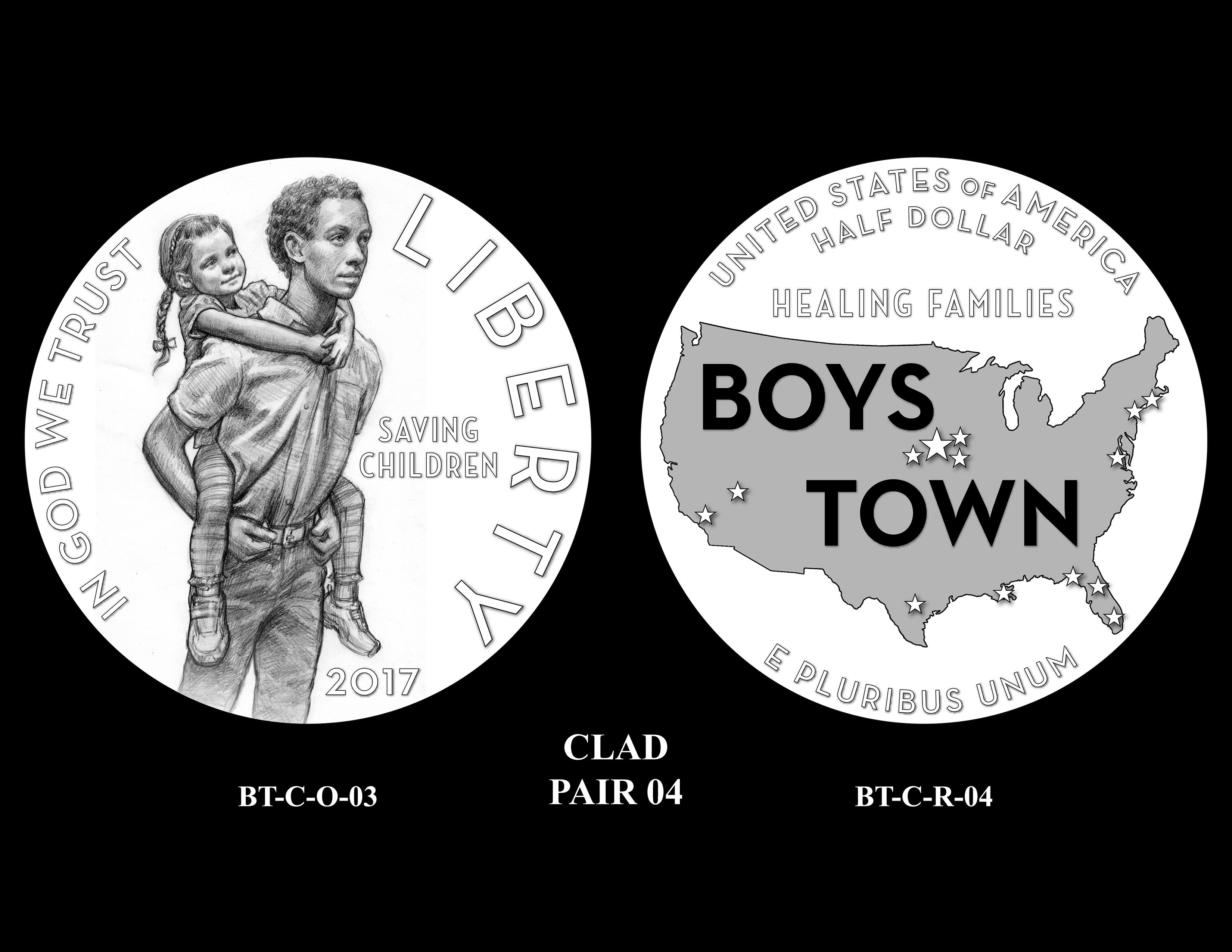 Clad-Pair-04 -- 2017 Boystown Centennial Commemorative Coin  Program