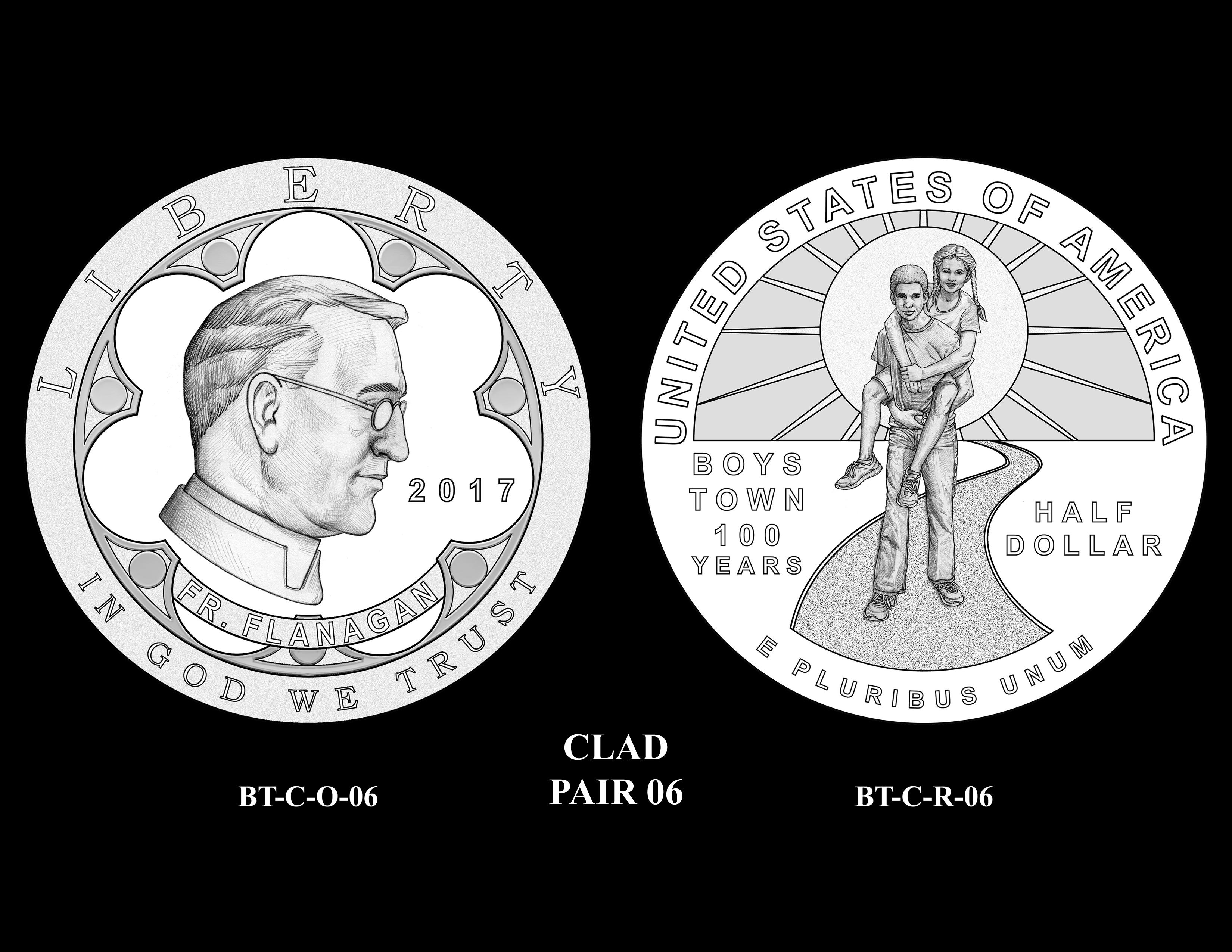 Clad-Pair-06 -- 2017 Boystown Centennial Commemorative Coin  Program