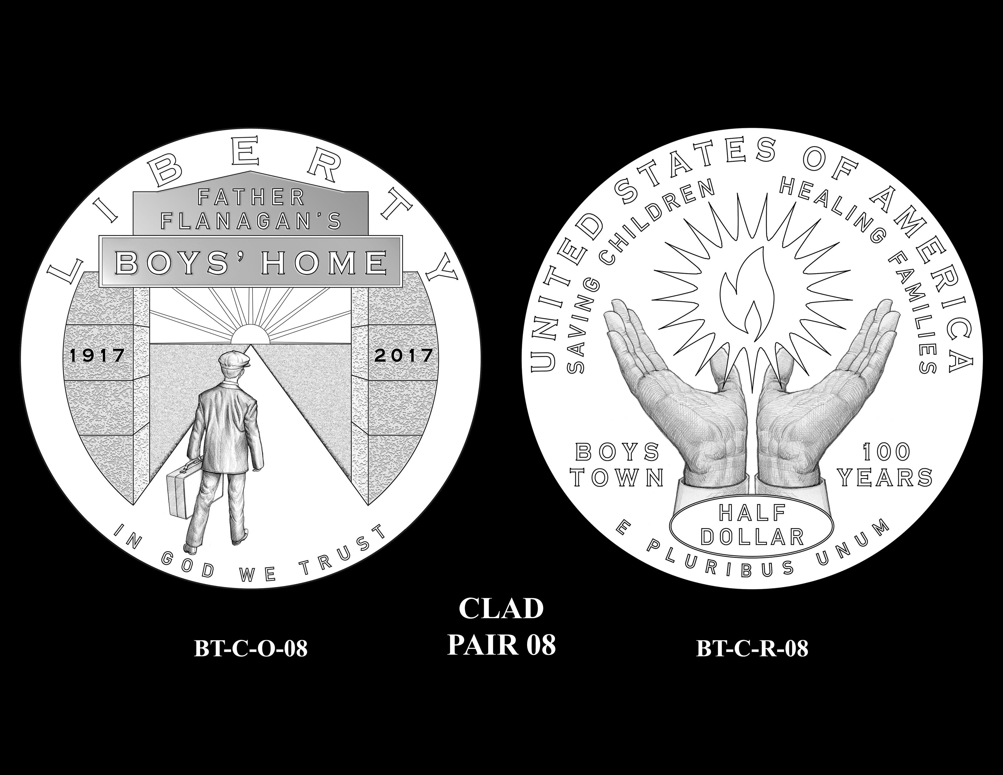 Clad-Pair-08 -- 2017 Boystown Centennial Commemorative Coin  Program