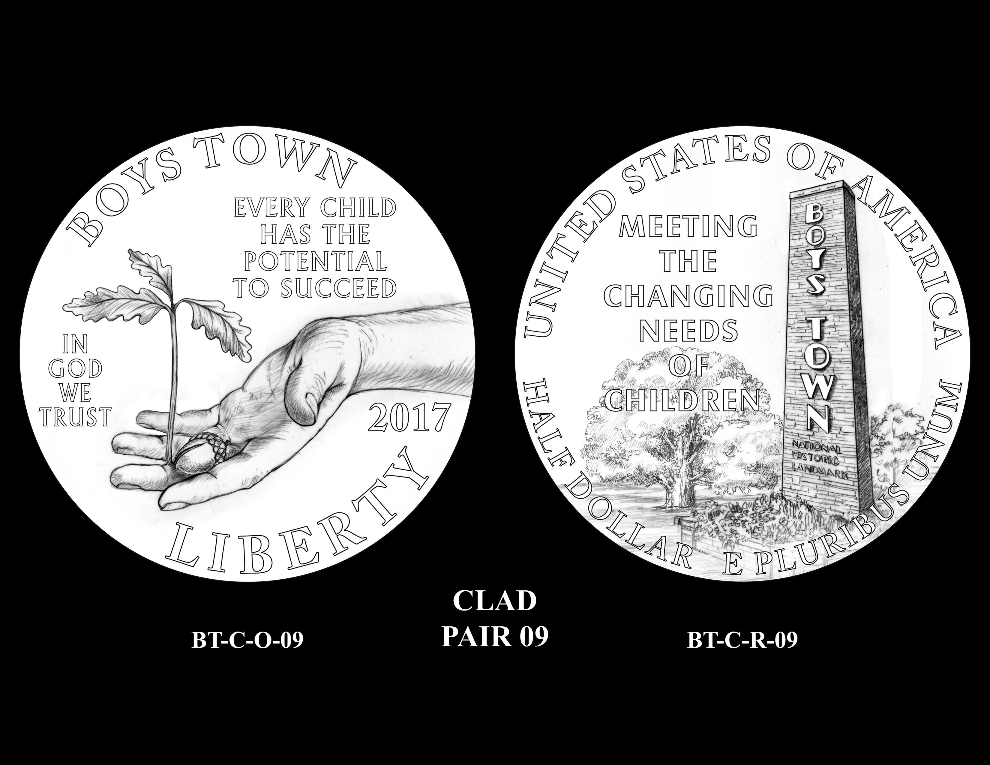 Clad-Pair-09 -- 2017 Boystown Centennial Commemorative Coin  Program