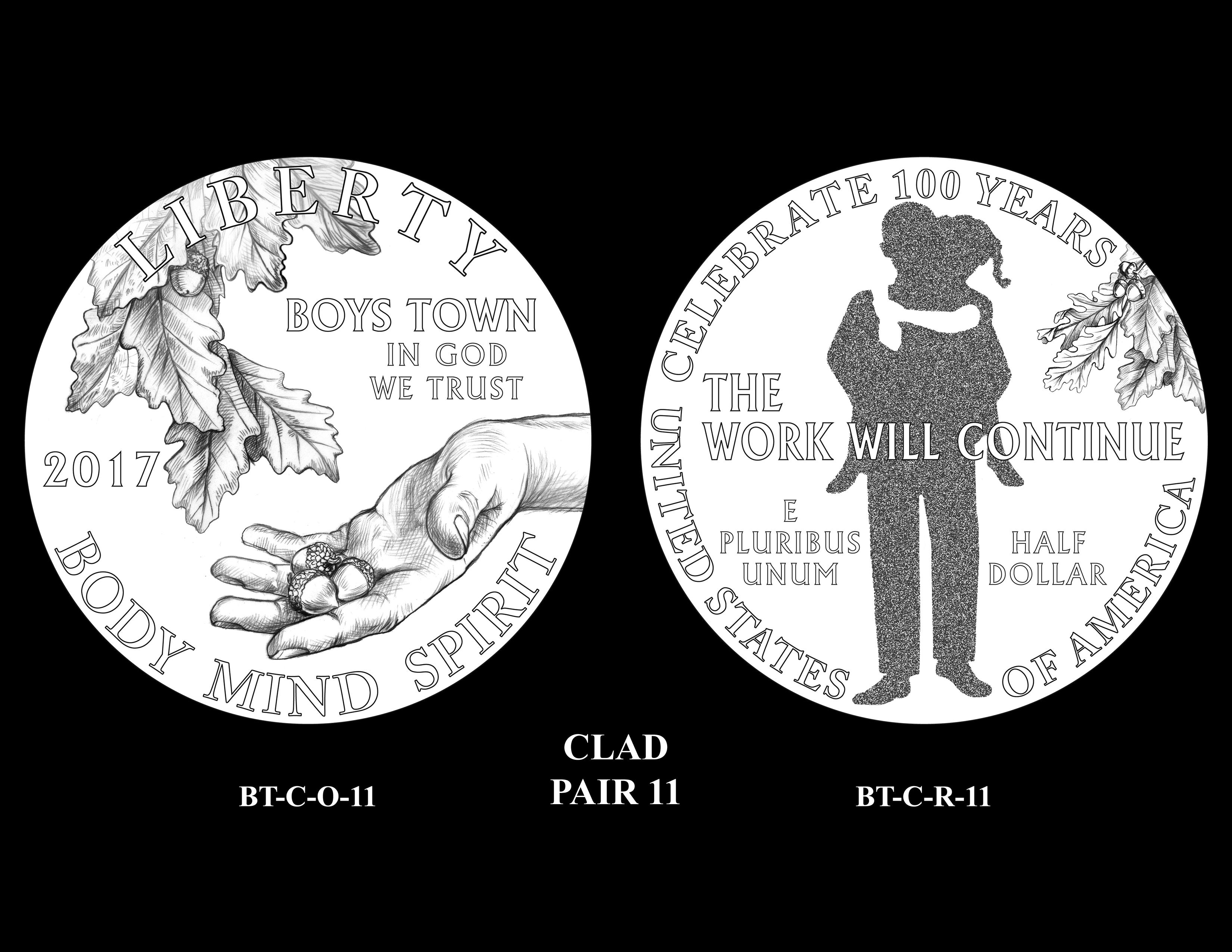 Clad-Pair-11 -- 2017 Boystown Centennial Commemorative Coin  Program