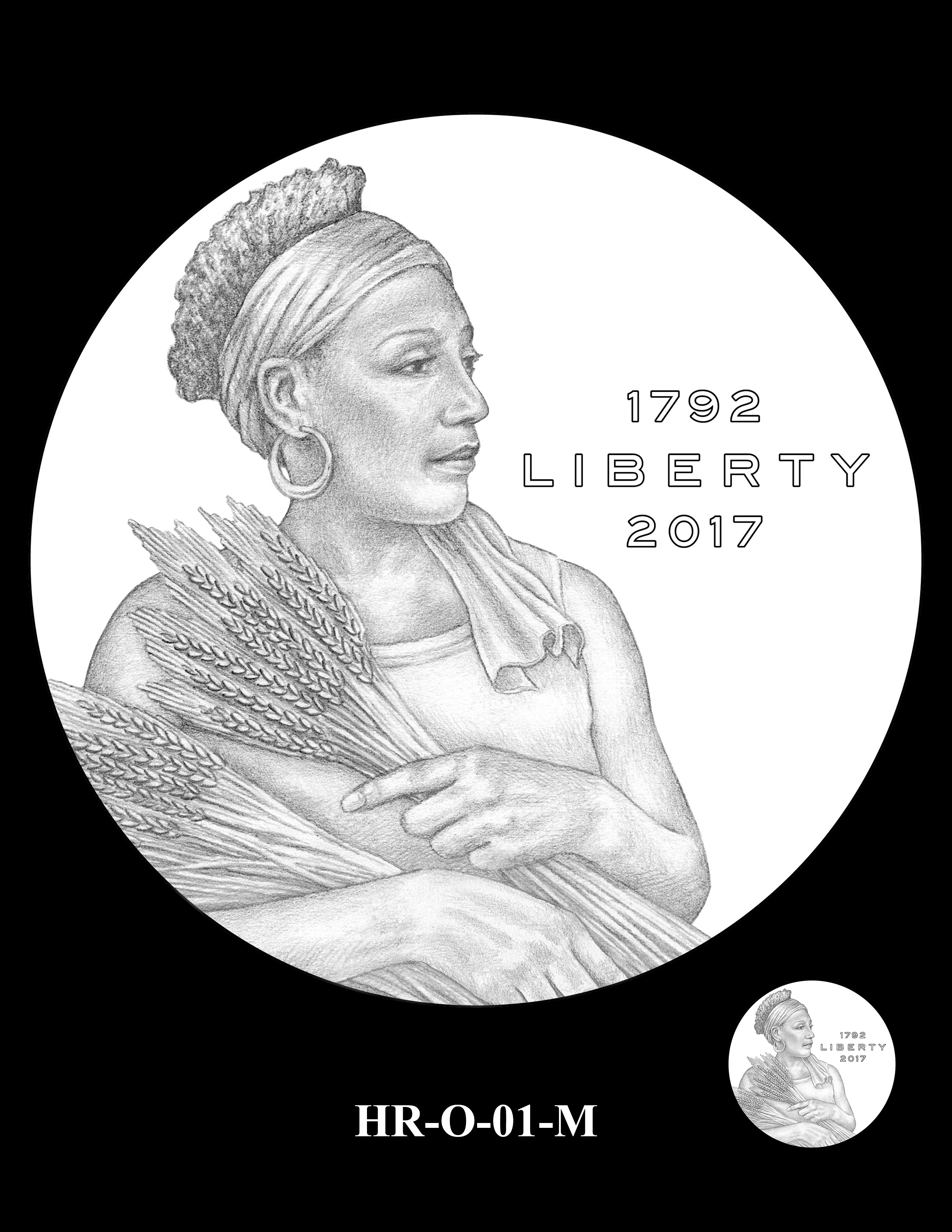 HR-O-01-M - 2017 American Liberty High Relief Gold Coin and Silver Medal Program