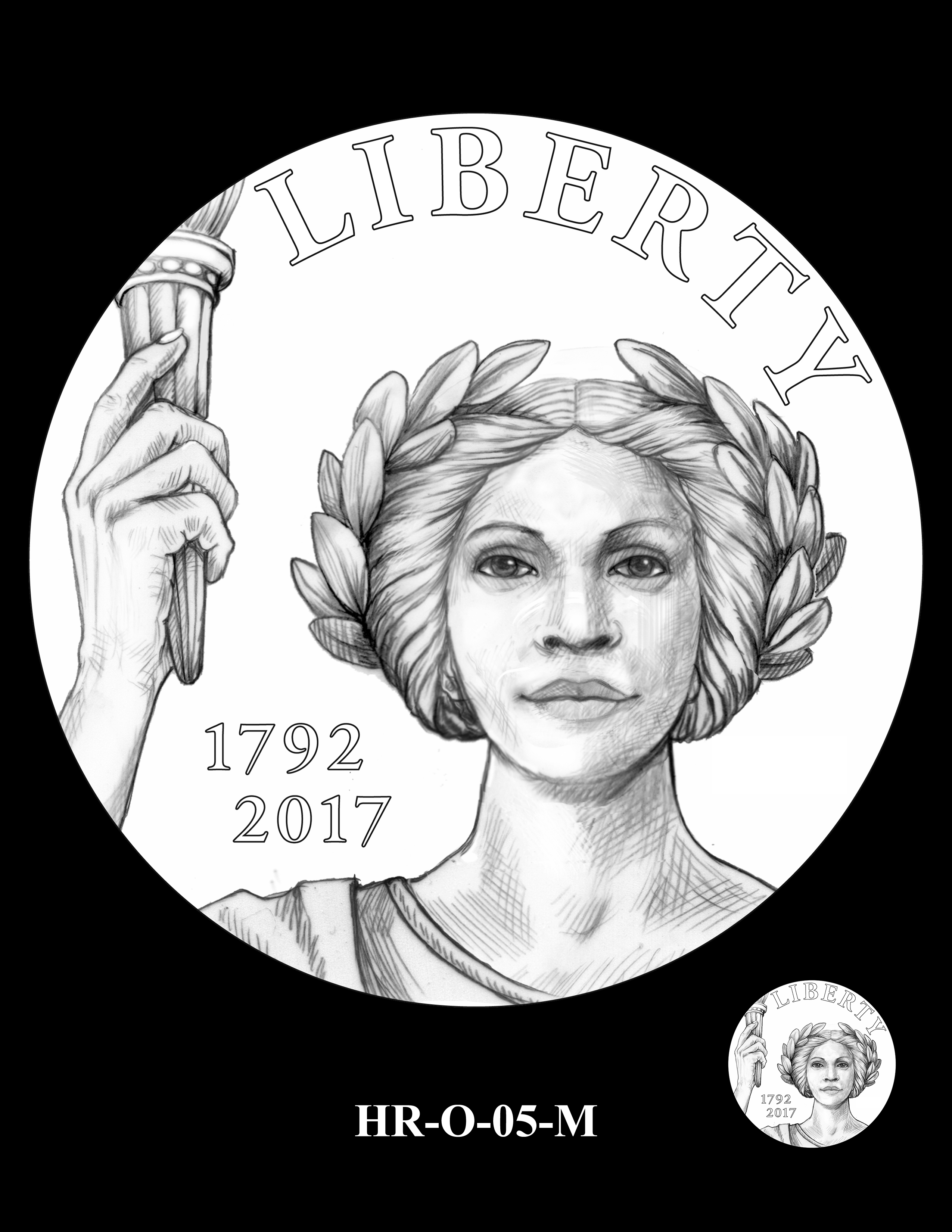 HR-O-05-M - 2017 American Liberty High Relief Gold Coin and Silver Medal Program