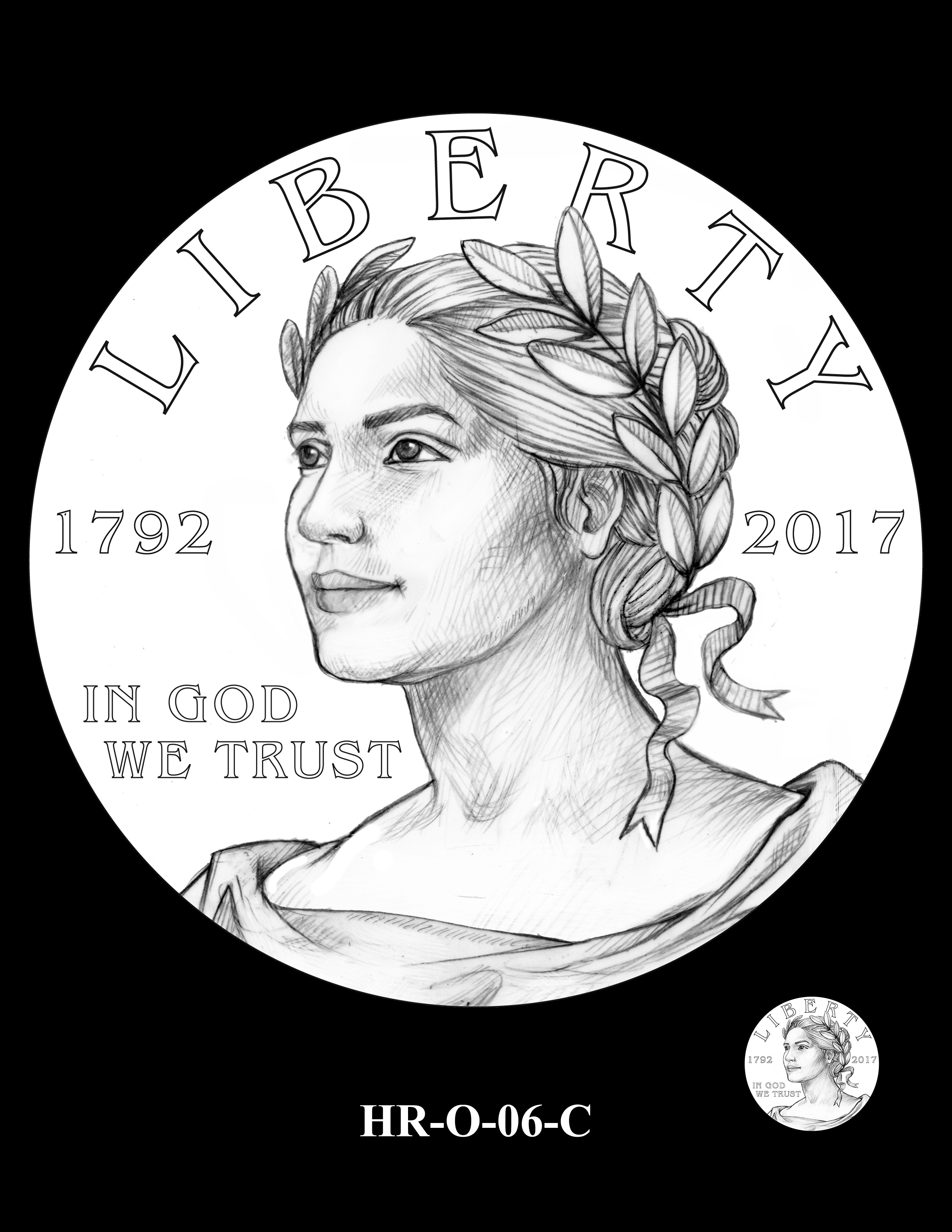 HR-O-06-C - 2017 American Liberty High Relief Gold Coin and Silver Medal Program