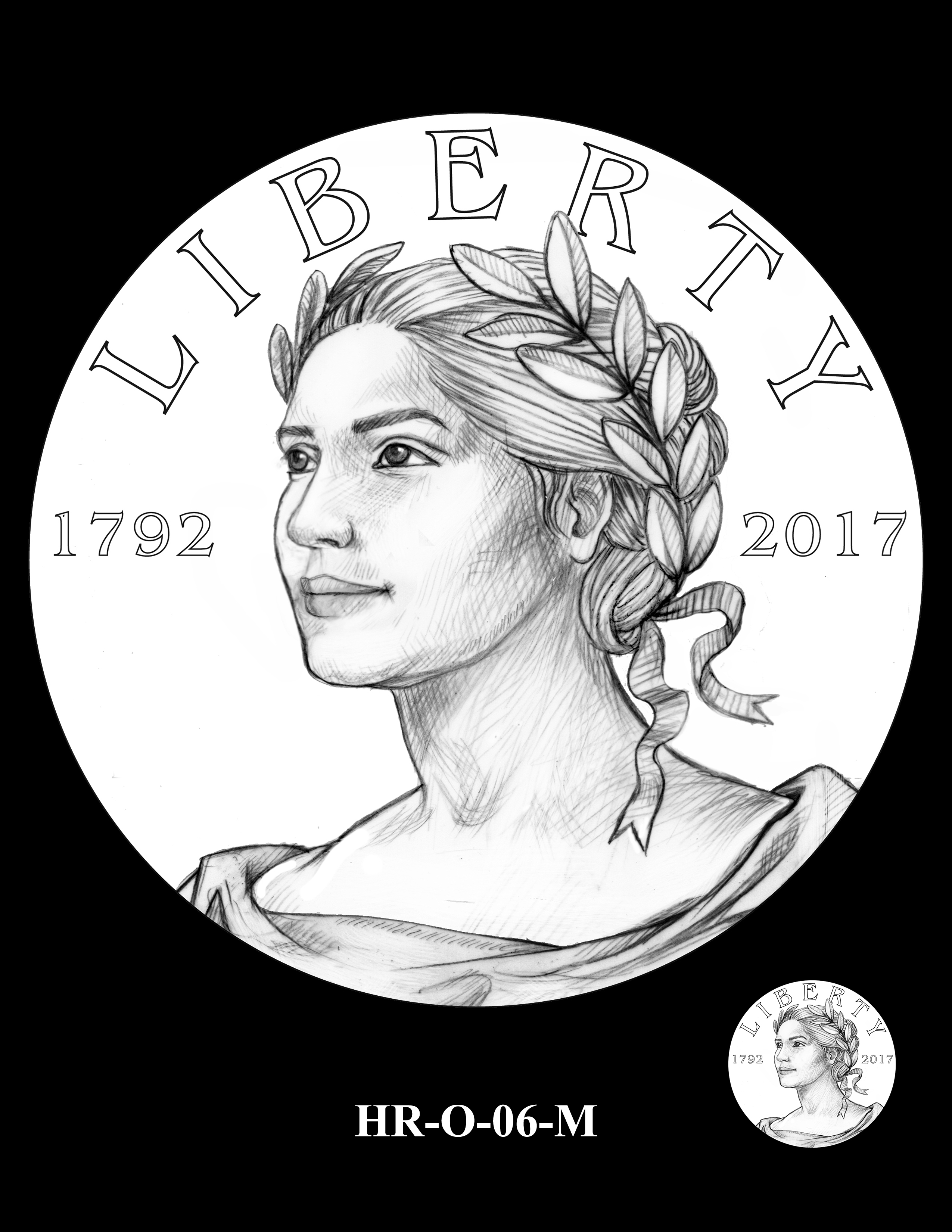 HR-O-06-M - 2017 American Liberty High Relief Gold Coin and Silver Medal Program