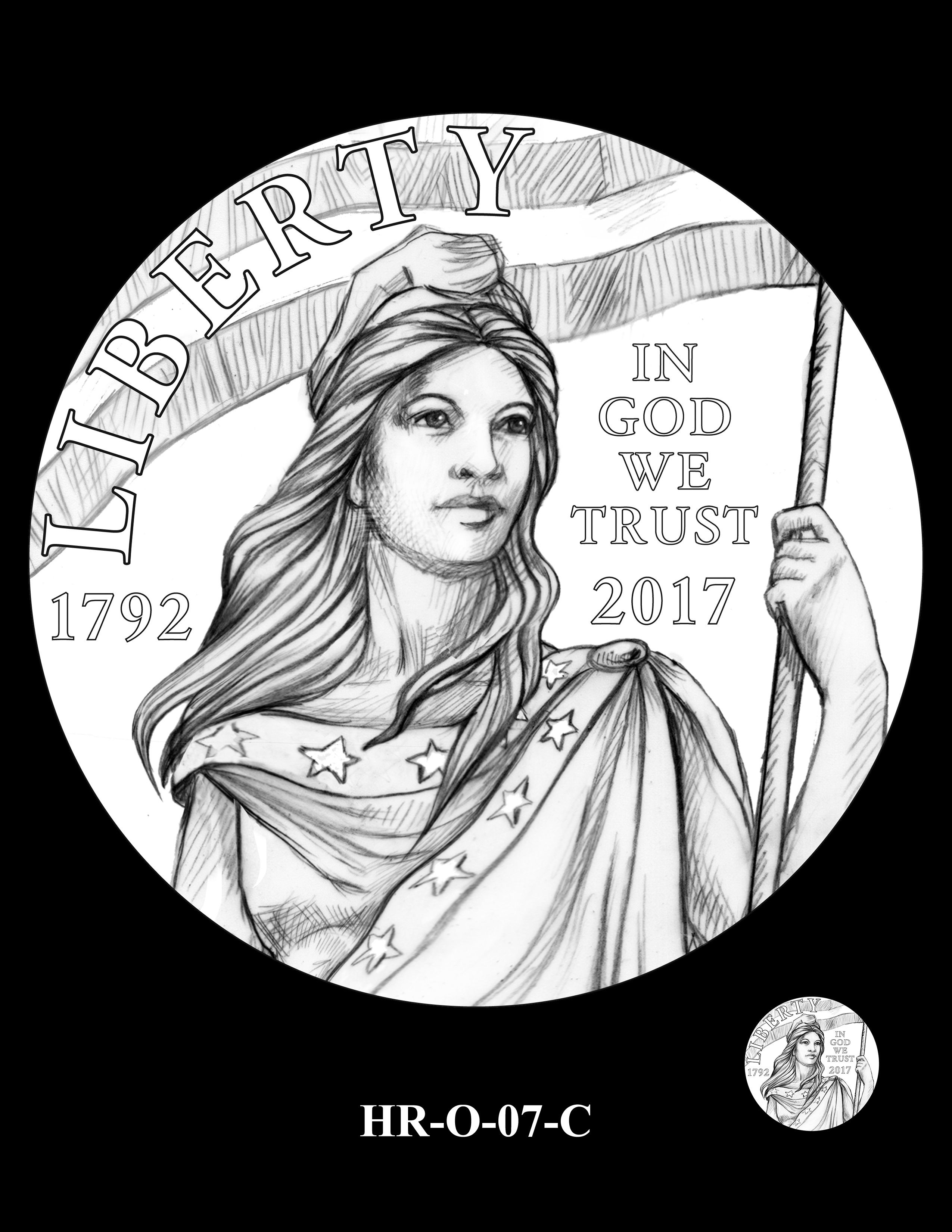 HR-O-07-C - 2017 American Liberty High Relief Gold Coin and Silver Medal Program