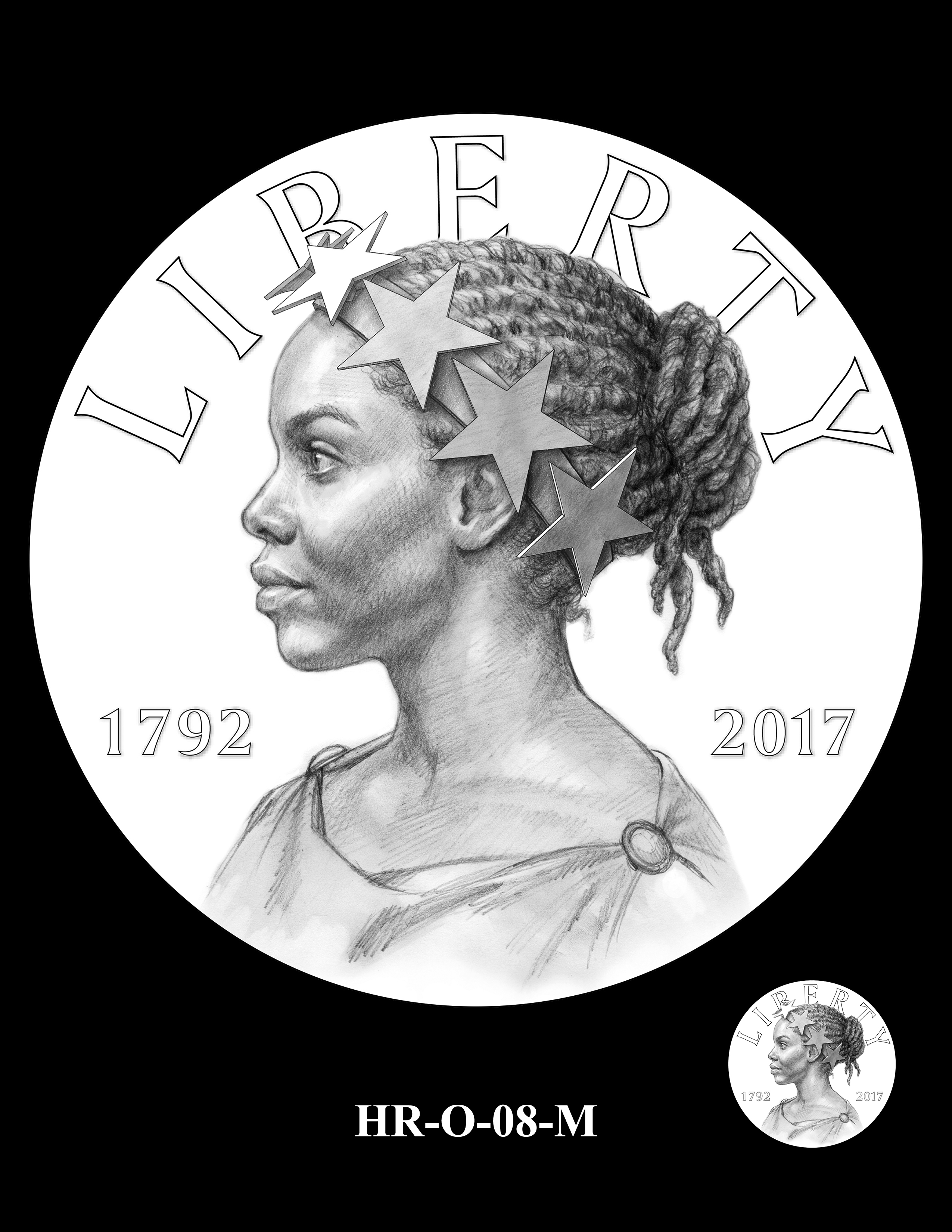 HR-O-08-M - 2017 American Liberty High Relief Gold Coin and Silver Medal Program
