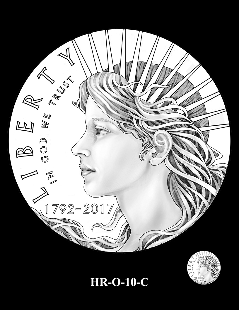 HR-O-10-C - 2017 American Liberty High Relief Gold Coin and Silver Medal Program