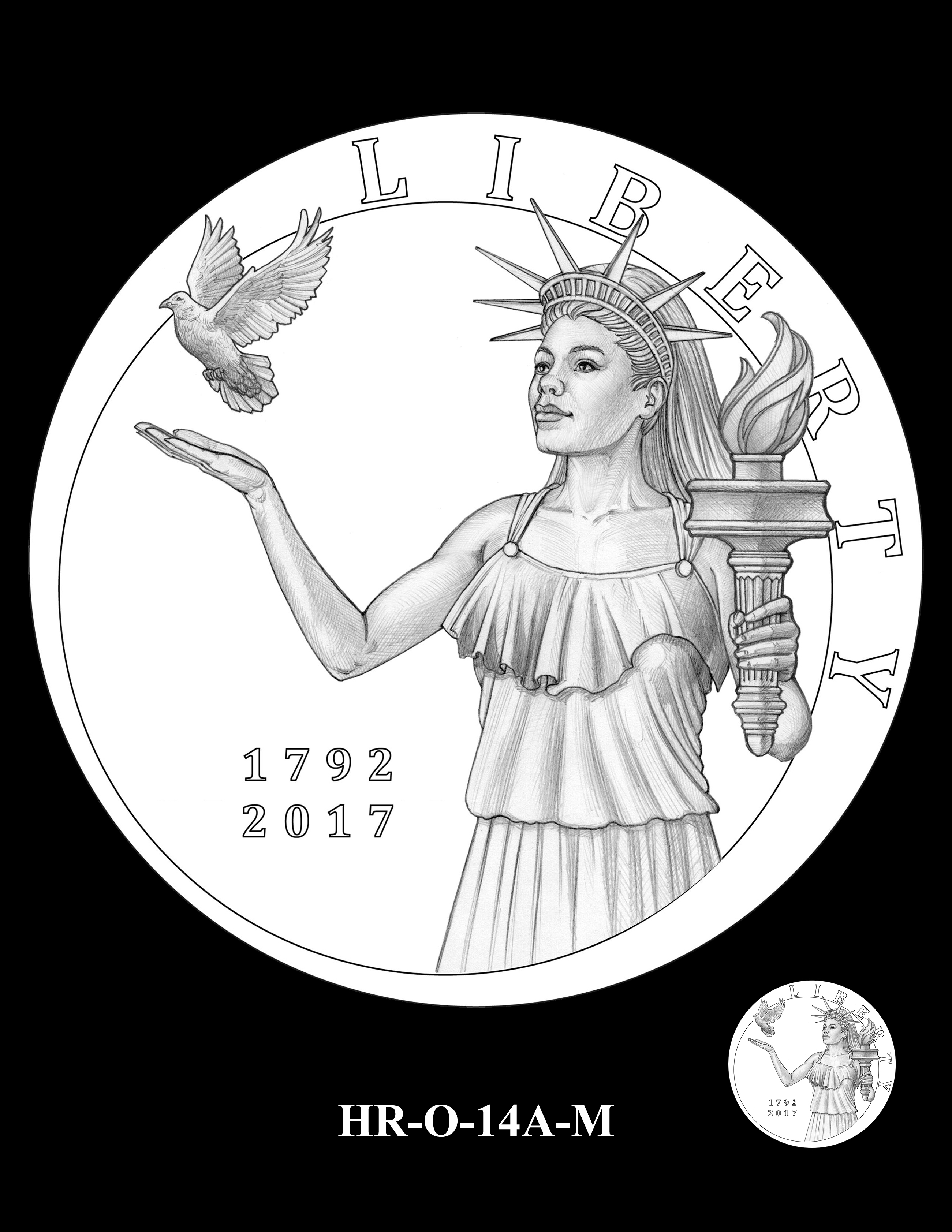 HR-O-14A-M - 2017 American Liberty High Relief Gold Coin and Silver Medal Program