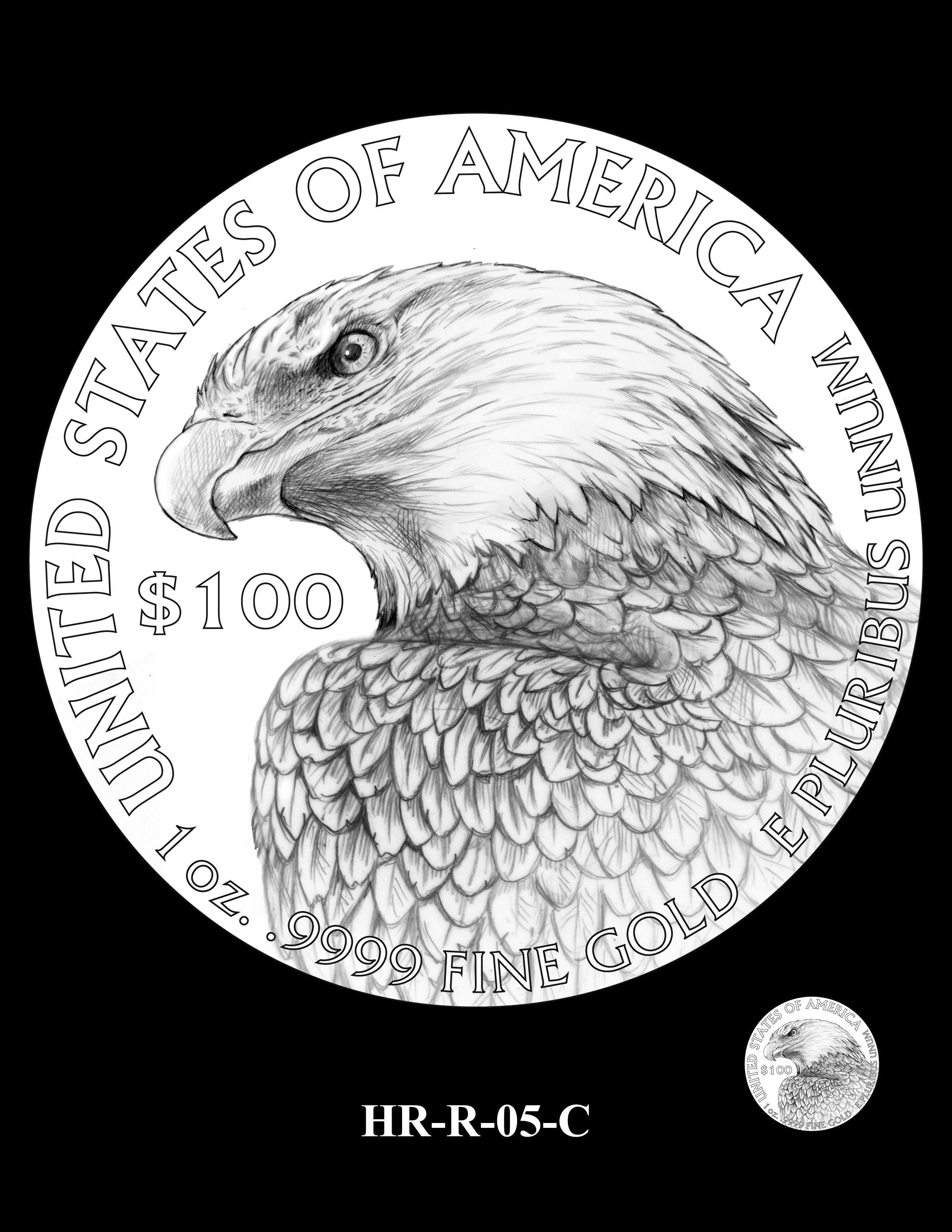 HR-R-05-C - 2017 American Liberty High Relief Gold Coin and Silver Medal Program