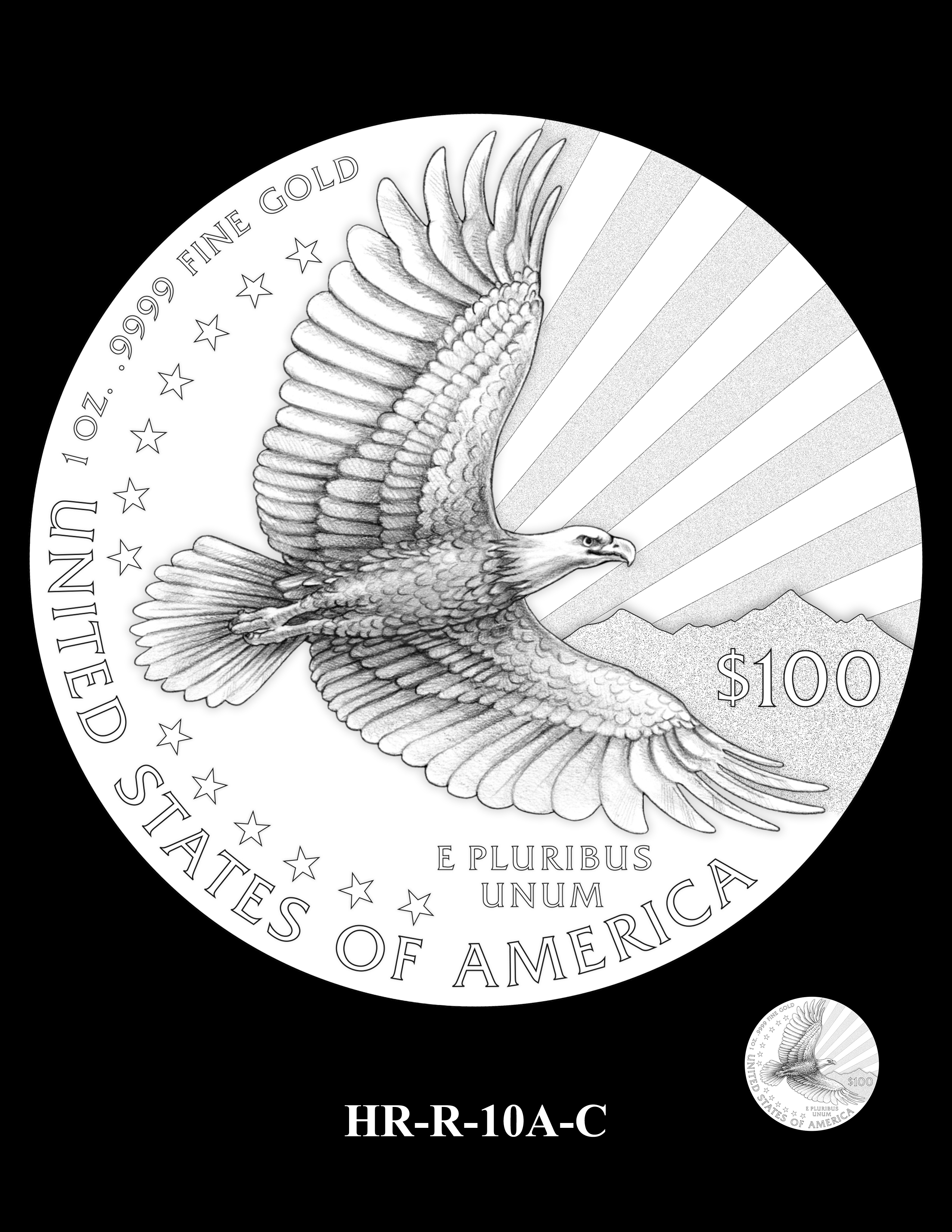 HR-R-10A-C - 2017 American Liberty High Relief Gold Coin and Silver Medal Program